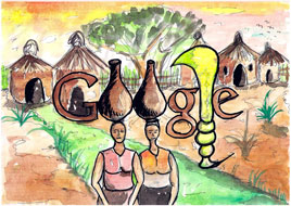 "Google Logo: Doodle4Google ""My Ghana"" 2011 Ghana Winner -"