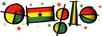Google Logo: 6th March 1957: Ghana Independence Day - 2012