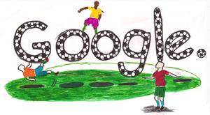 Google Logo: Doodle 4 Google 'I Love Football' National Winner - Ghana